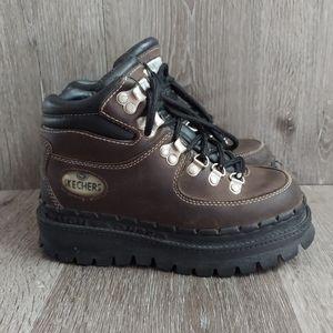 Vintage 90s Skechers Jammers Brown Platform Boots